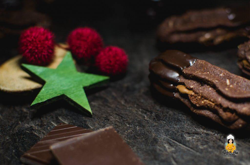 Schoko-Nougat-Spritzgebäck: Die Nougatstangen sind die idealen Weihnachtsplätzchen für alle Schoko-Fans!