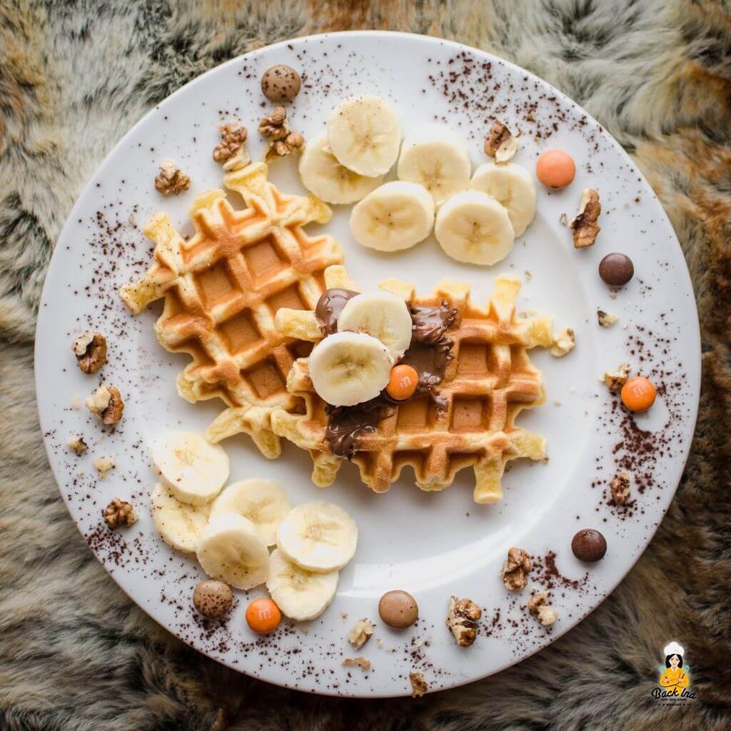 Waffeln ohne Butter und Zucker: Sauerrahm Waffeln mit Birkenzucker und Dinkelmehl