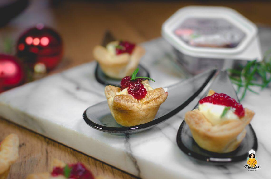 Anzeige: Cranberry Camembert Appetizer mit Alpenhain Camembert Creme