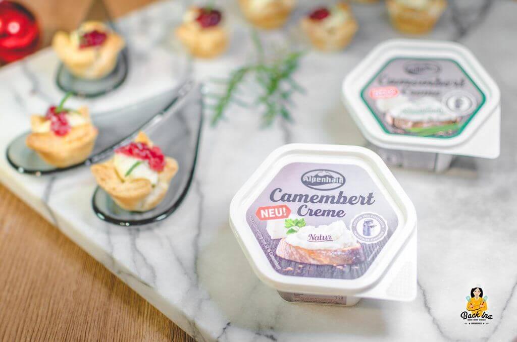 Camembert-Appetizer mit Alpenhain Camembert Creme