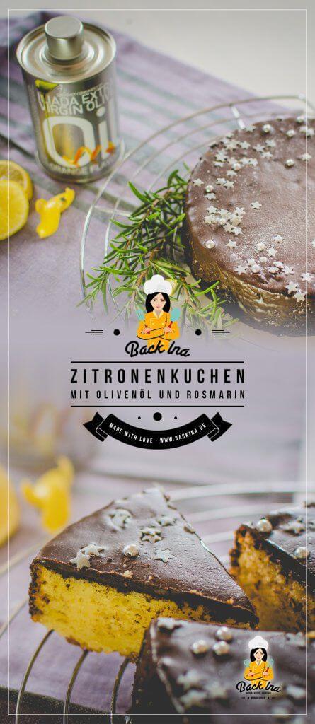 Der beste Zitronenkuchen mit Olivenöl, den du je gegessen hast! Zitronenkuchen mit Olivenöl statt Butter im Teig - nicht zu süß, sehr saftig und aromatisch durch Rosmarin. Diesen Zitronen-Olivenölkuchen muss du probieren! | BackIna.de