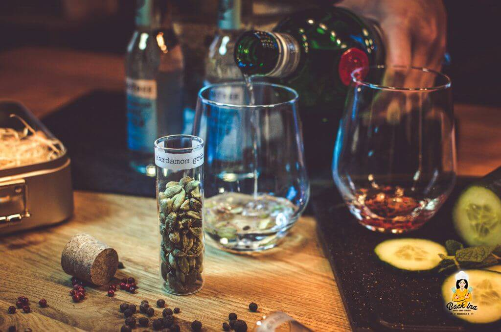Gin mit Koriander aromatisiert
