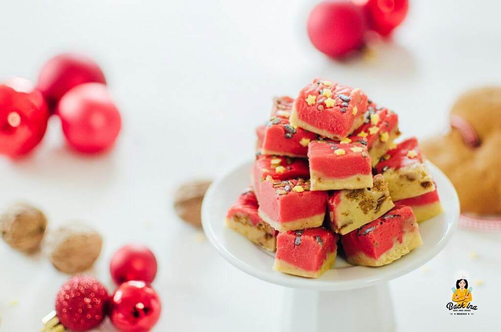 Lebkuchen Fudge: Weichkaramellen mit Lebkuchen zu Weihnachten
