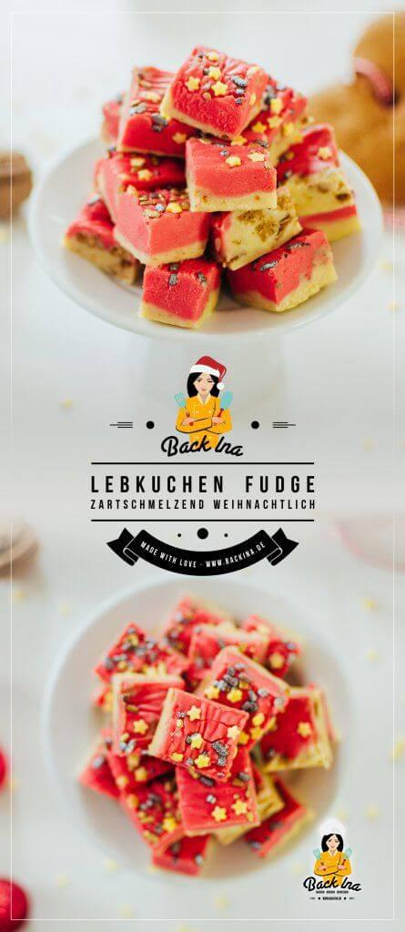 Lebkuchen Fudge (oder auch Weichkaramellen mit Lebkuchen-Geschmack) sind ideale Geschenke aus der Küche: Weihnachtliches Karamell mit Vanille- und Lebkuchen-Geschmack ist ganz leicht gemacht! Probier es doch auch mal aus! | BackIna.de