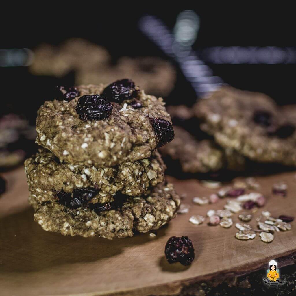 Cookies zum Frühstück: Zuckerfreie Cookies mit Haferflocke und Banane