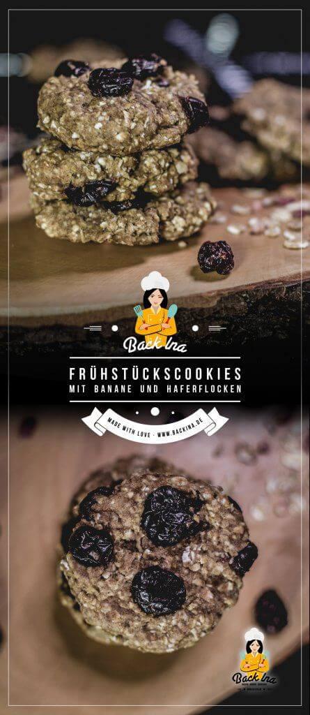 Du suchst gesunde Cookies ohne Zucker und Fett? Diese Frühstückscookies mit Haferflocken und Banane sind genau der richtige Snack für gesundheitsbewusste Genießer! | BackIna.de