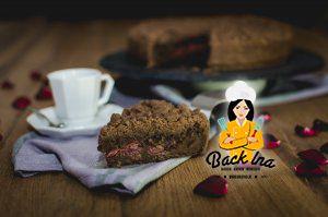 Schokoladen-Kirschkuchen mit Streuseln