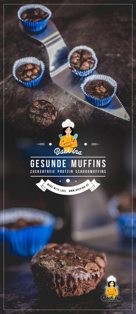 Du suchst einen proteinreichen Snack? Wie wäre es mit diesen Mini Protein Schoko Muffins ohne Zucker, dafür mit Bohnen und Haferflocken im Teig? Ein schnelles und einfaches Fitness Rezept, das du probieren solltest! | BackIna.de