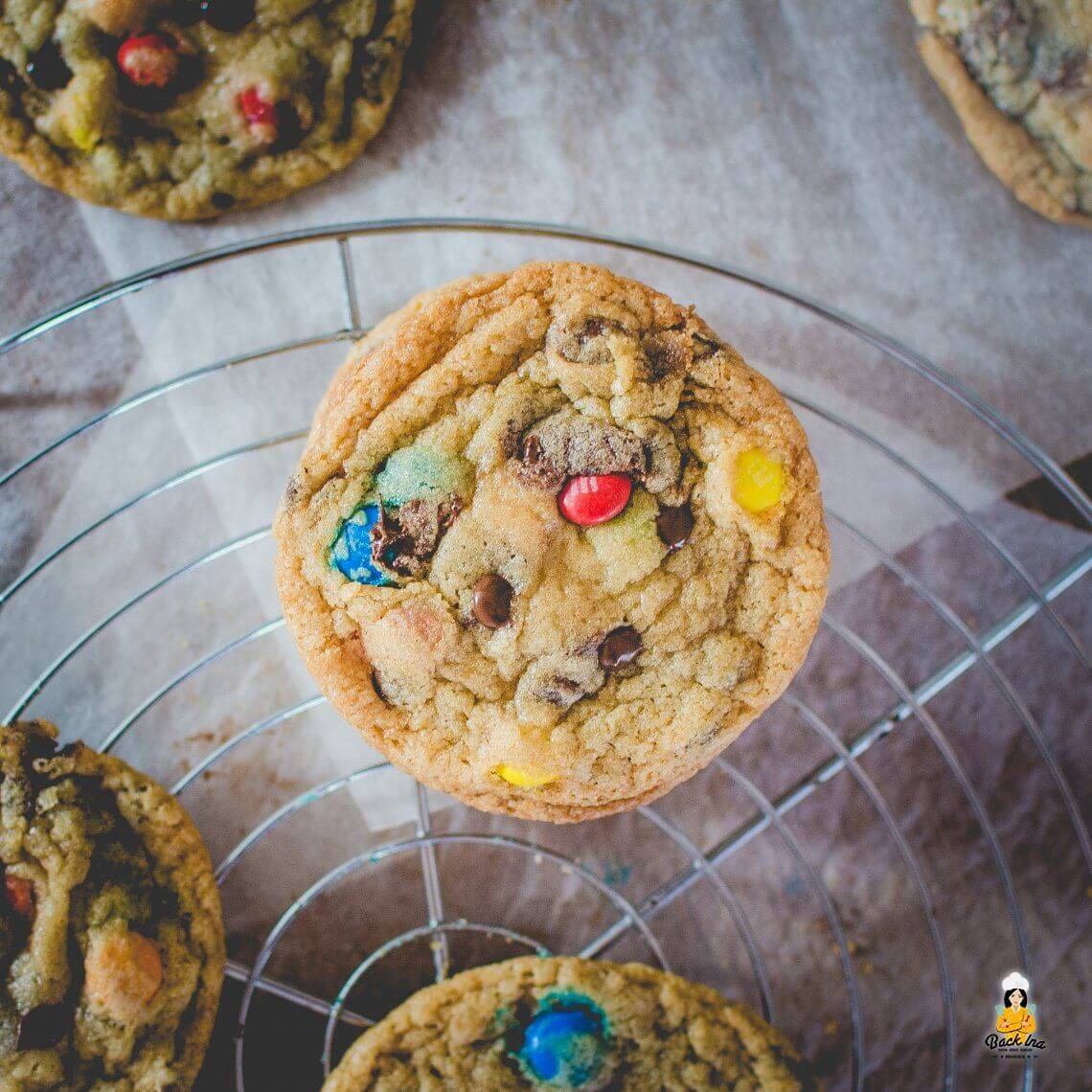 Rainbow Cookies (Chocolate Chip Cookies mit M&Ms / Smarties)