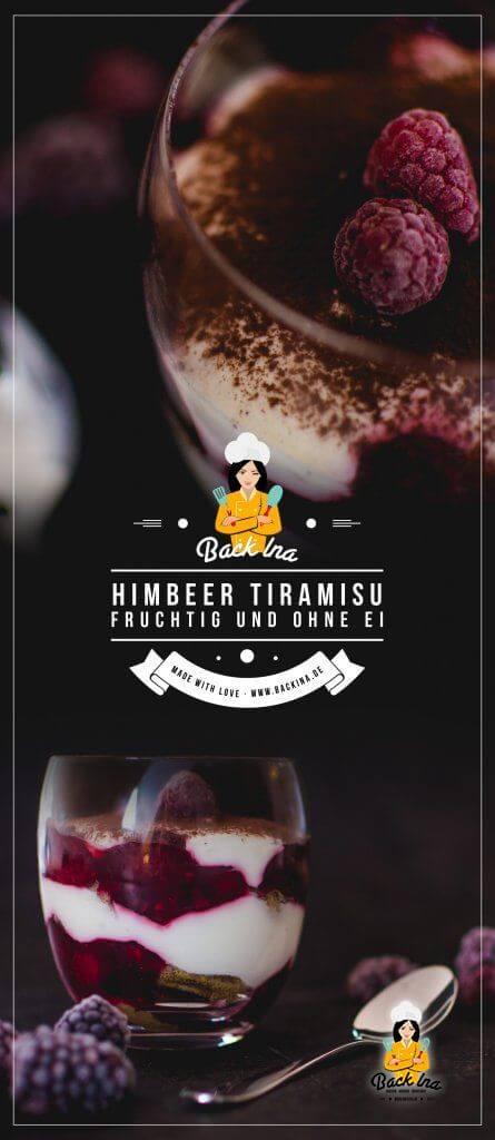Du suchst eine fruchtige Variante von Tiramisu: Dieses Himbeer Tiramisu ohne Ei ist das perfekte Frühlingsdessert im Glas! Dabei kommt das Tiramisu ohne Ei aus und durch weniger Mascarpone ist es ein Tiramisu mit weniger Kalorien. Probiere dieses fruchtige Dessert im Glas unbedingt aus! | BackIna.de