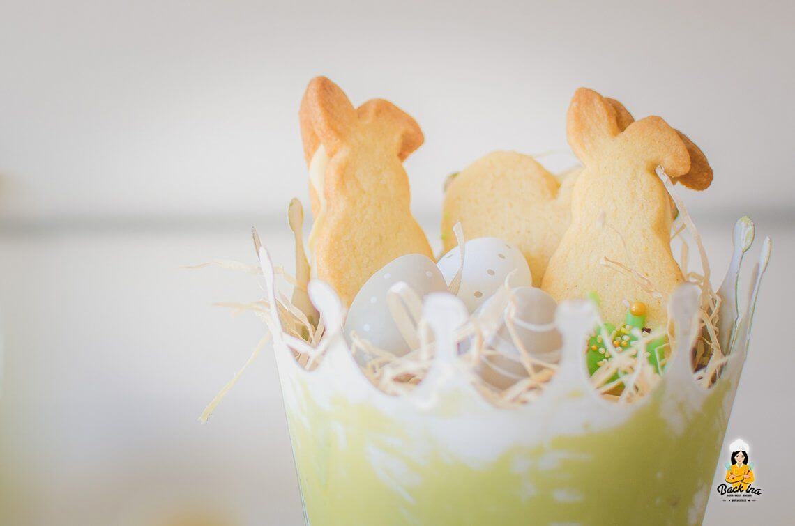 Osterkekse (Gefülltes Zitronen Shortbread)