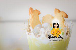 Hasenkekse zu Ostern: Gefülltes Zitronen Shortbread in Hasenform