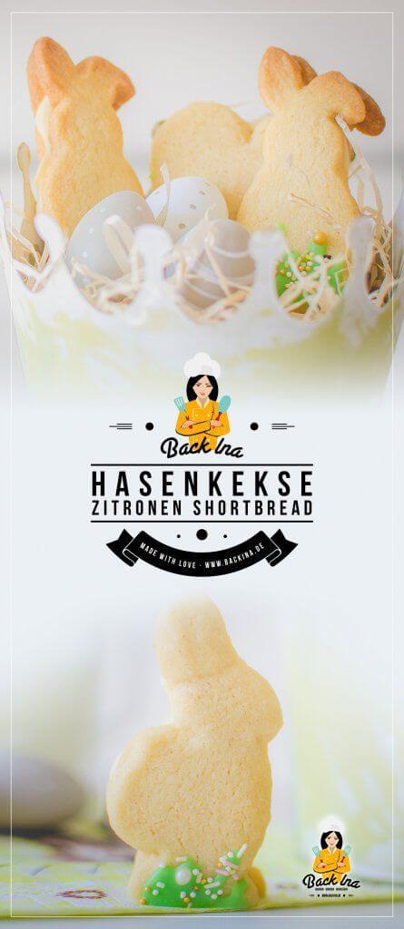 Hasenkekse zu Ostern: Ich zeige euch, wie man leckere Osterkekse in Form von Hasen bäckt - es gibt Zitronen Shortbread mit zitroniger Füllung. Diese Osterkekse / Hasenkekse sind ein niedliches Gebäck zu Ostern! | BackIna.de