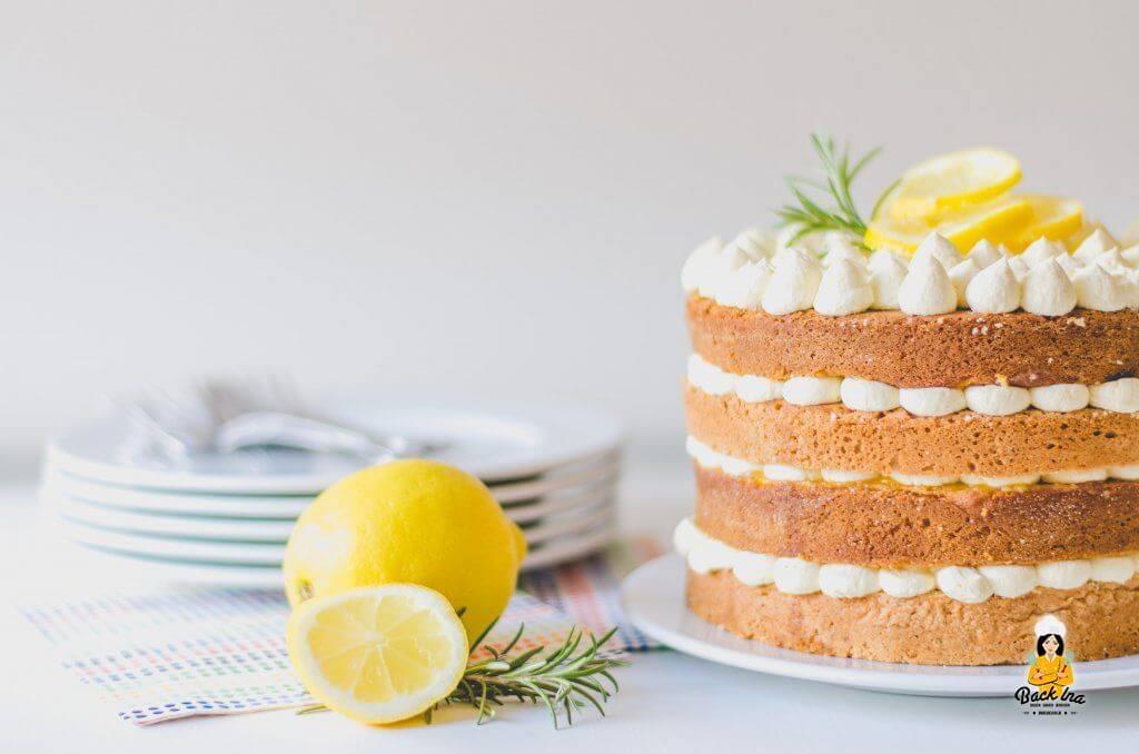 Gold und Silbertorte - Traditionsrezept als Naked Cake
