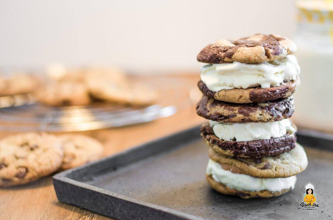 Copycat Rezept: Ben & Jerry's Wich (Cookie Eiscreme Sandwich)