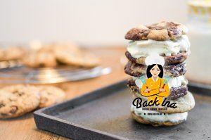 Eiscreme Sandwich mit Cookies wie Ben & Jerry's Wich