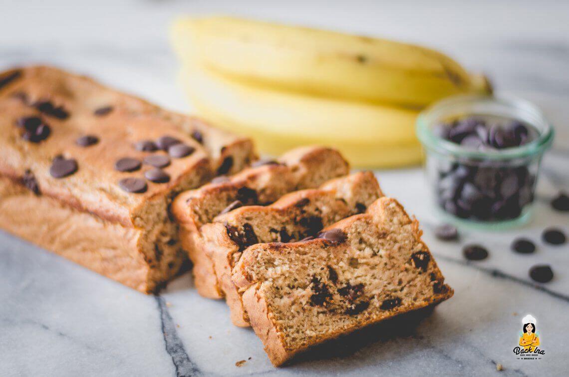 Resteverwertung für Bananen (Veganes Bananenbrot mit Schokostückchen)