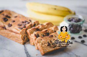 Veganes Bananenbrot mit weniger Zucker und Schoko-Stückchen