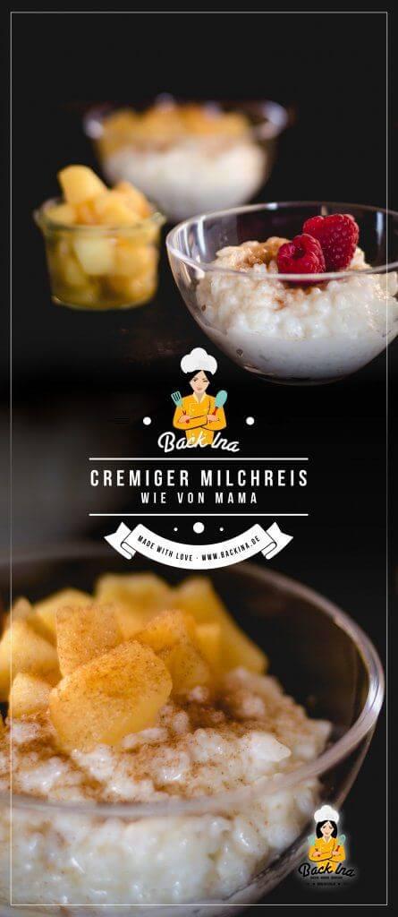 Du möchtest Milchreis selber machen? Ich zeige dir ein einfaches Milchreis Rezept nach klassischer Art: Schmeckt wie bei Mama zu Hause! | BackIna.de