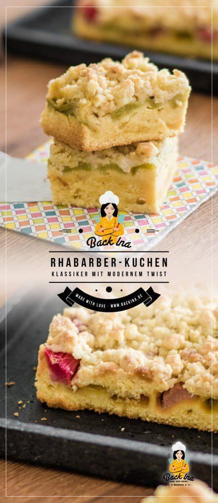 Du möchtest einen Rhabarberkuchen backen? Wie wäre es mit einer modernen Variante von Rhabarber Streuselkuchen? Mit Orange im Teig und Marzipan Streuseln wird aus dem Kuchenklassiker ein frischer Frühlingskuchen! BackIna.de