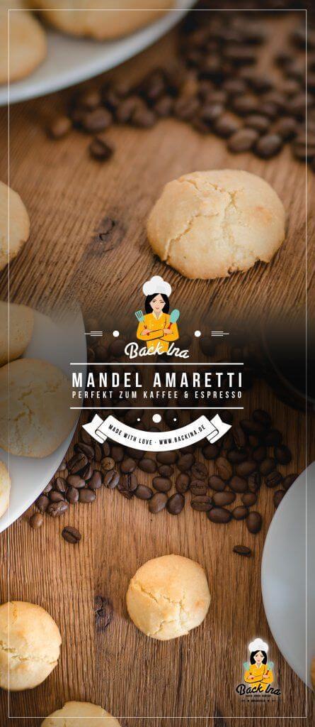 Du liebst weiche Amaretti zum Kaffee? Ich zeige dir, wie du die italienischen Mandelkekse ganz einfach selber machen kannst. Dabei kannst du gut eine größere Menge vorbereiten und frisch zum Espresso servieren, da sie sich in einer Dose ca. 2 Wochen halten. | BackIna.de