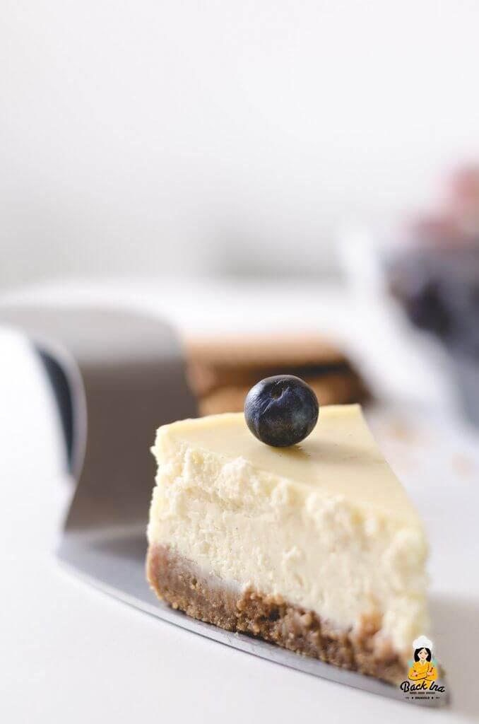 cremiger american cheesecake nach klassischer art. Black Bedroom Furniture Sets. Home Design Ideas