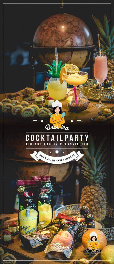 Anzeige | Du möchtest eine Cocktailparty im Stil der 50er Jahre zu Hause veranstalten? Ich zeige dir, was du servierst, wie du dekorierst und welche Drinks du mixt! Als besondere Empfehlung gebe ich dir die Käfer Frozen Cocktails mit. #anzeige #käferfrozencocktails | BackIna.de
