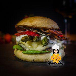 Spargel Burger zum Tag des Burgers