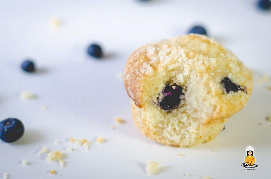 Blaubeer Muffins selber machen - Muffins mit vielen Blaubeeren im Teig