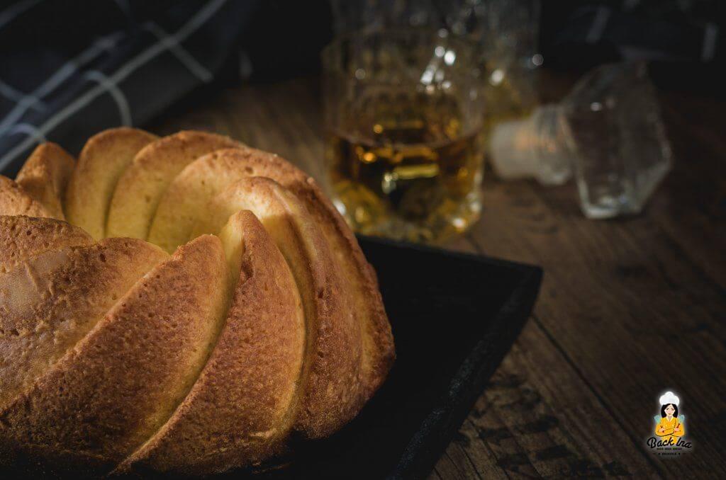Kuchen mit Whiskey - ein typischer Männerkuchen, geschmacklich ähnlich zu Eierlikörkuchen