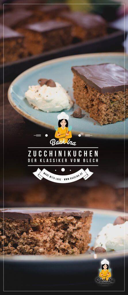 Du möchtest einen Zucchinikuchen backen? Ich zeige dir das klassische Rezept aus dem Zwergenstübchen Backbuch - dieser Blechkuchen ist einfach und schnell gemacht und dabei so lecker! | BackIna.de