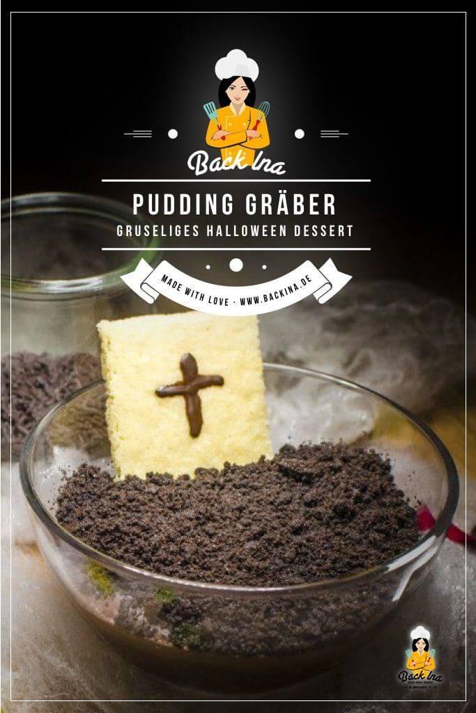 Du suchst ein einfaches Halloween Dessert? Diese Pudding Gräber sind aus Schokopudding und Oreos ganz schnell gemacht und begeistern Kinder und Erwachsene zu Halloween! | BackIna.de