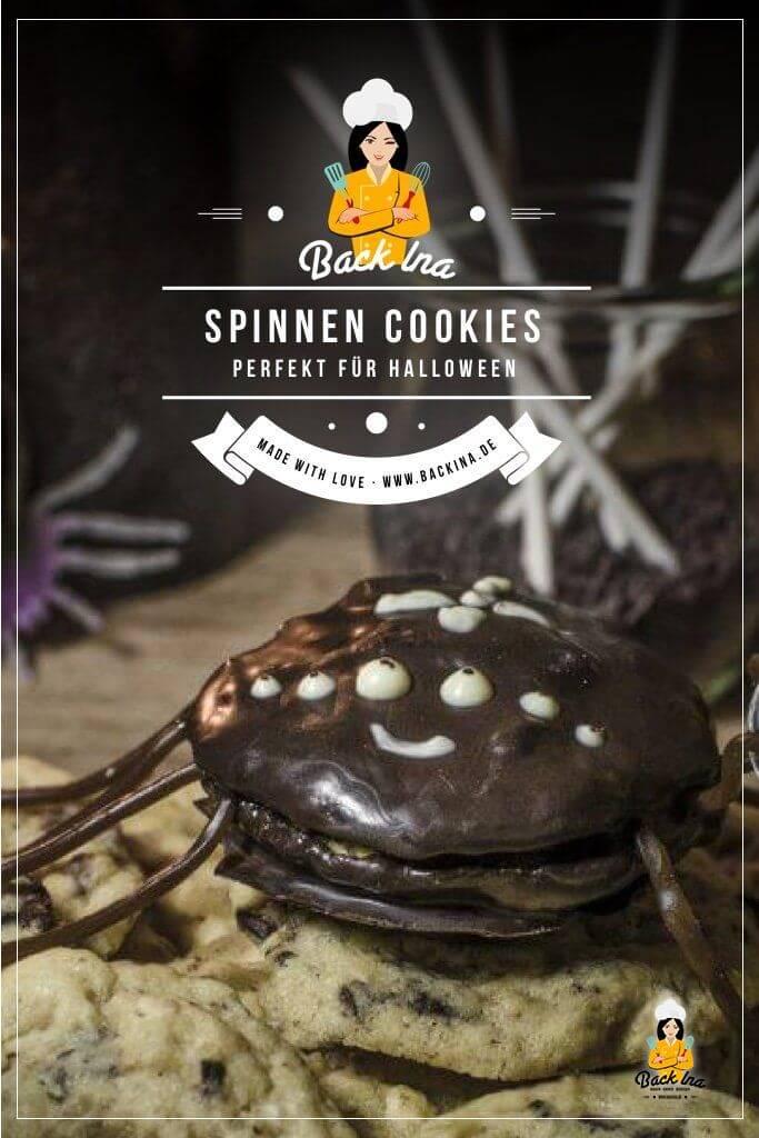 Du suchst leckere Cookies zu Halloween? Die Spinnen Cookies sind niedlich und gruselig zu gleich und begeistern vor allem Kinder an Halloween! | BackIna.de