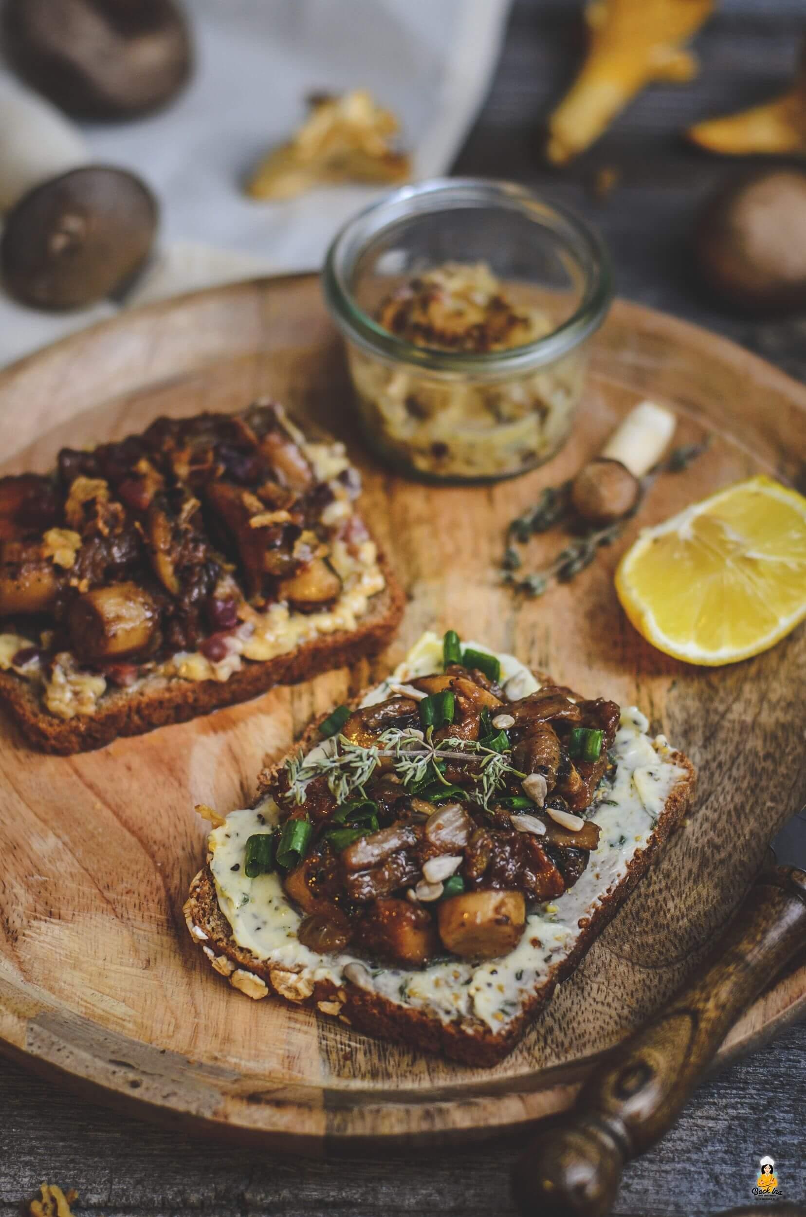 Pilz-Butterbrot: Fränkische Vorspeise zum Herbst mit Waldpilzen