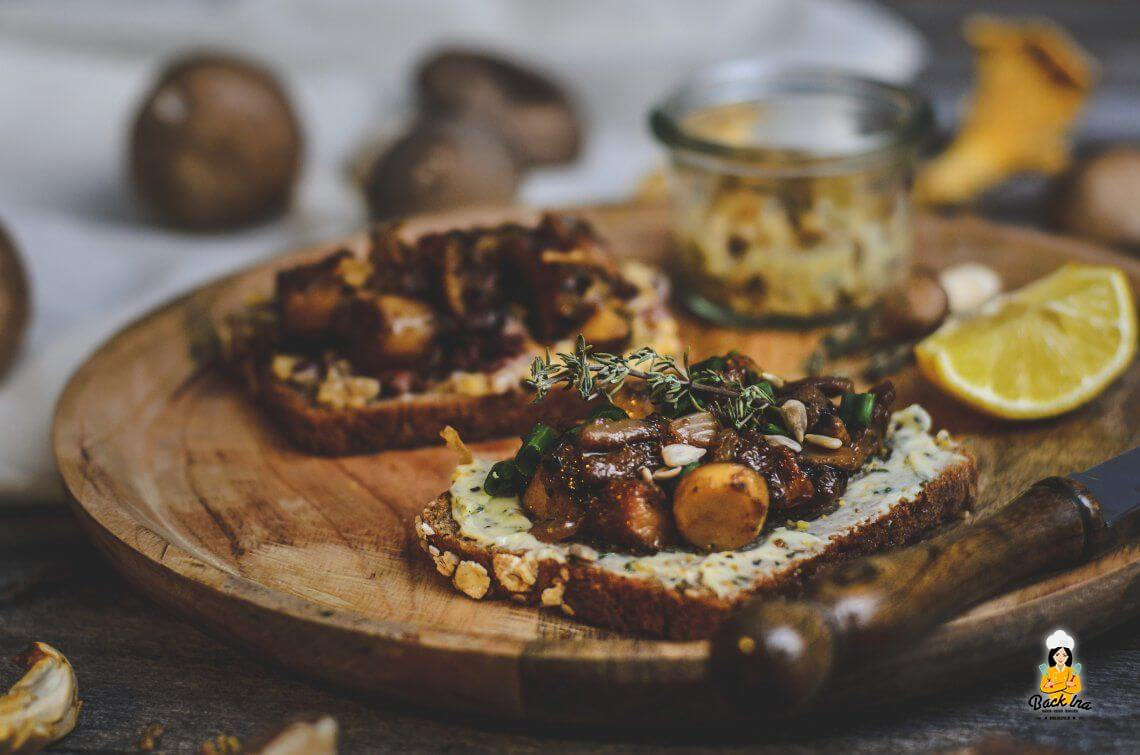 Tag des deutschen Butterbrotes: Fränkisches Pilz-Butterbrot auf zweierlei Art