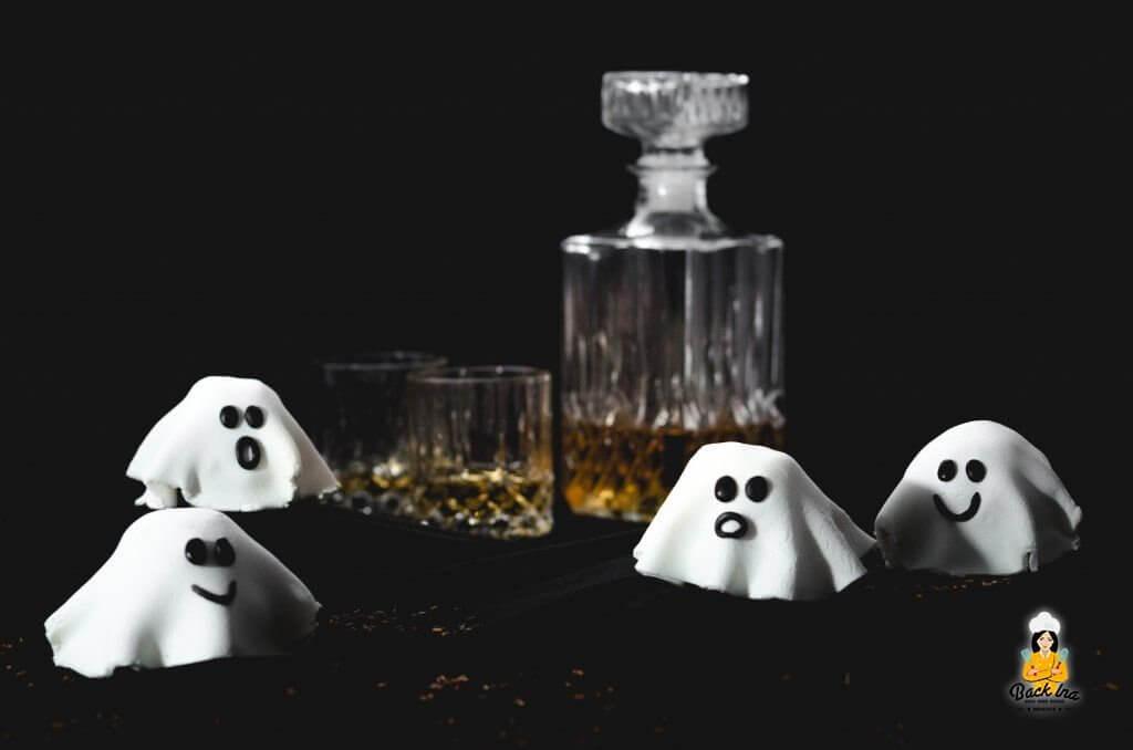 Halloween Gebäck - Gespenster Muffins