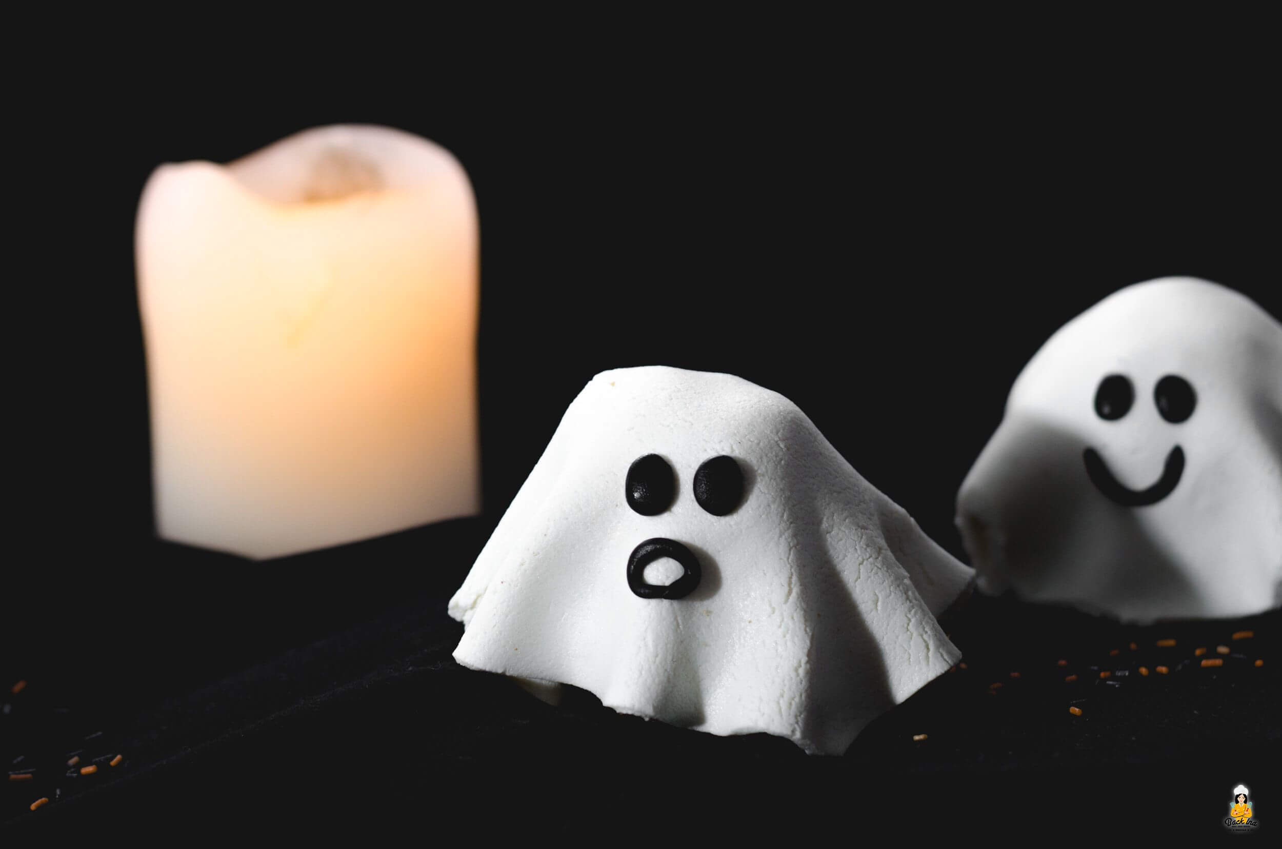 Gespenster aus Muffins: Einfaches Halloween Gebäck