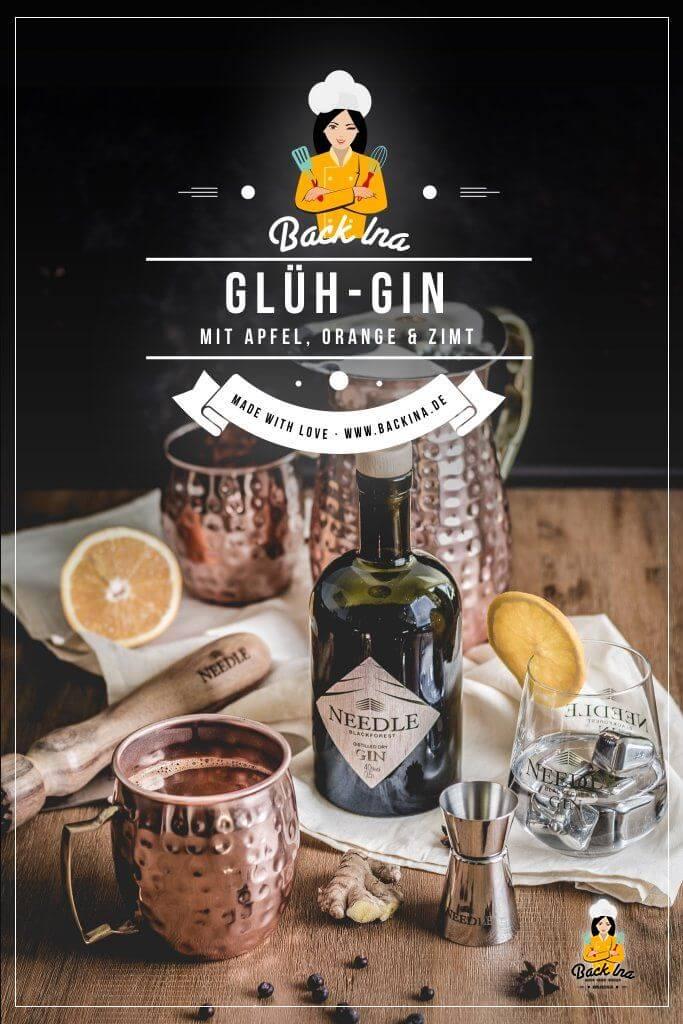 Du möchtest einen winterlichen Cocktail mit Gin zubereiten? Dann probiere doch mal Glüh-Gin, die Alternative zu Glühwein! Eine fruchtiger Punsch mit Apfel, Orange und Gin - das neue Trendgetränk 2018! | BackIna.de
