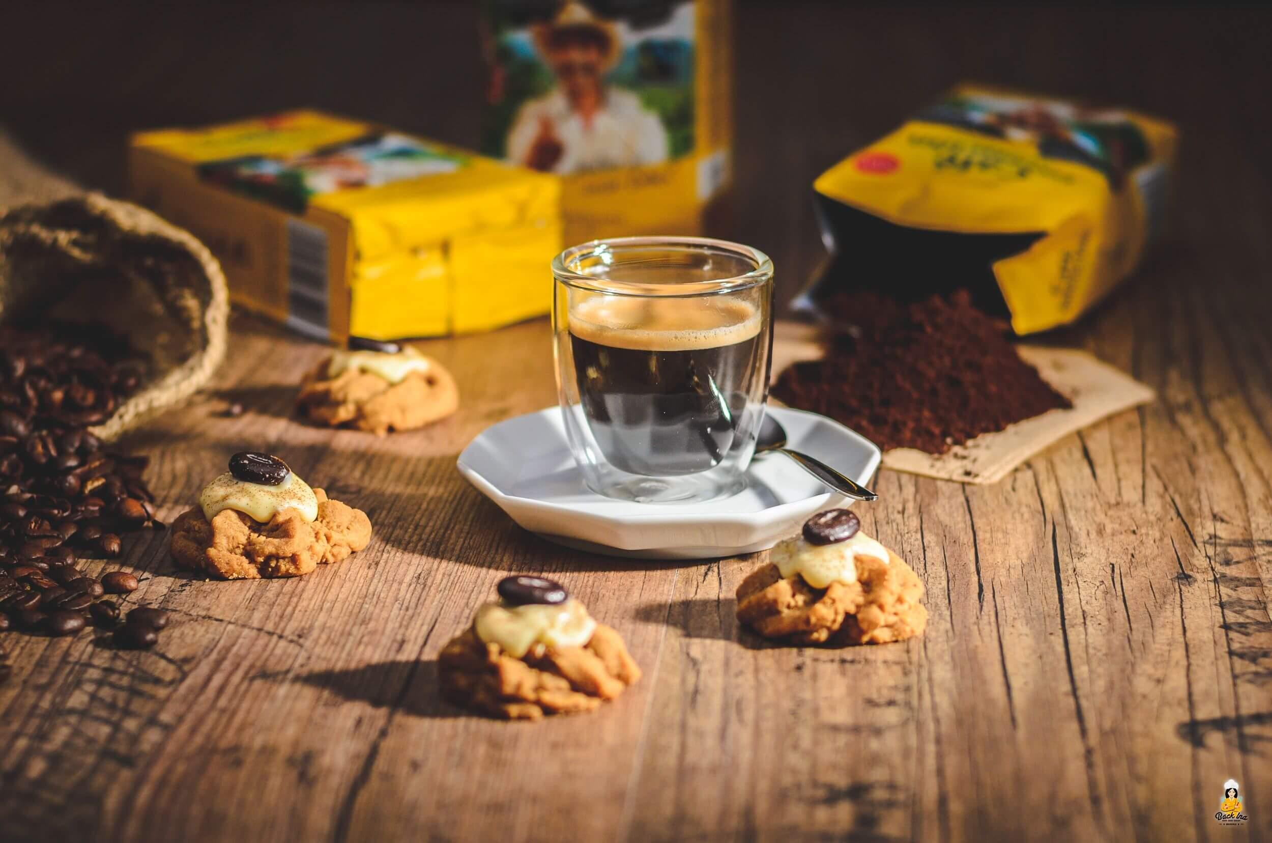 Kaffee Spritzgebäck als Begleiter zum Espresso