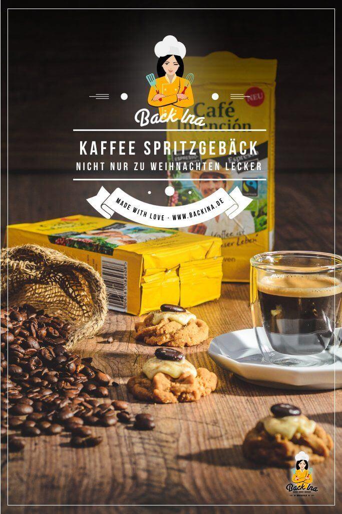 Du magst Plätzchen mit Kaffee? Dann ist dieses Kaffee Spritzgebäck das ideale Rezept für dich! Diese Kekse sind auch super zum Kaffee als Beilage geeignet oder auf dem Plätzchenteller zu Weihnachten! Probiere diese Kaffee Plätzchen aus! | BackIna.de