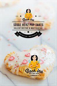 Eine tolle Idee für Valentinstag oder Muttertag: Pop Tarts selber machen - das leckere amerikanische Gebäck mit Marmelade gefüllt - in Herzform als kleine Aufmerksamkeit Valentinstag für deinen Schatz! Backidee zum Valentinstag| BackIna.de