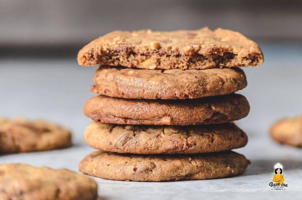 Erdnussbutter Cookies mit Nutella