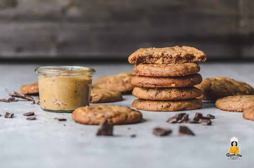 Cookies mit Erdnussbutter und Schokolade