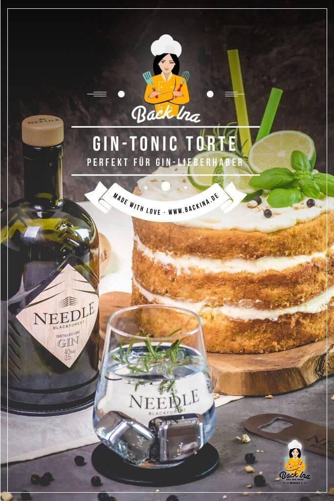 Du suchst eine besondere Geburtstagstorte oder ein Naked Cake Rezept? Diese Gin Tonic Torte ist perfekt für festliche Anlässe und lässt die Herzen von Gin-Liebhabern höher schlagen! | BackIna.de