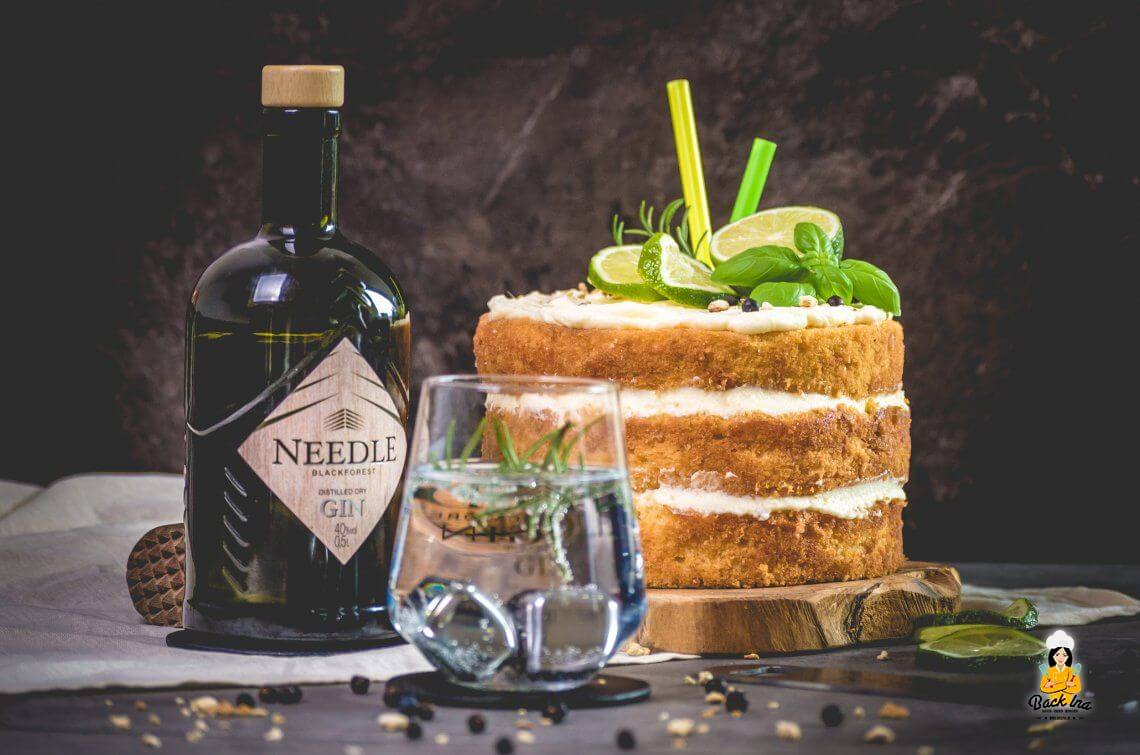 Cheers! Gin Tonic Torte mit Needle Blackforest Gin