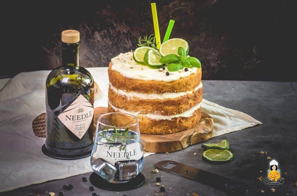 Naked Cake mit Gin Tonic Aroma selber machen