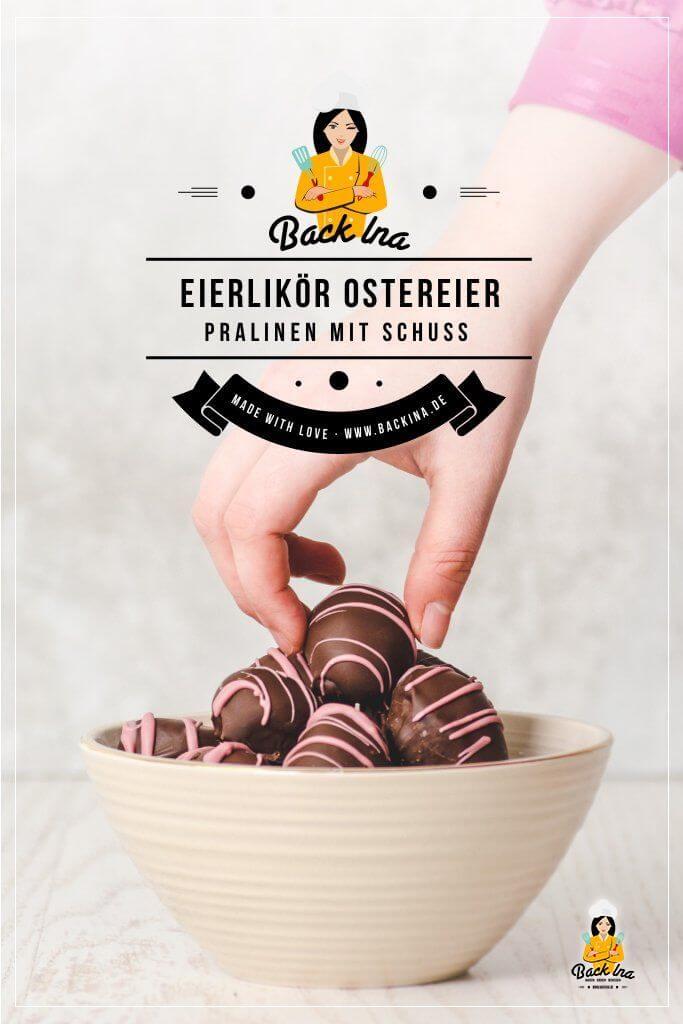Du suchst ein einfaches Rezept für Pralinen mit Eierlikör? Diese Ostereier Pralinen mit Eierlikör und Cranberries sind super leicht zu machen und ein perfektes Ostergeschenk für Liebhaber von Pralinen! Eine schöne Ergänzung im Osternest sind diese selbstgemachten Pralinen in Form von Ostereiern. | BackIna.de