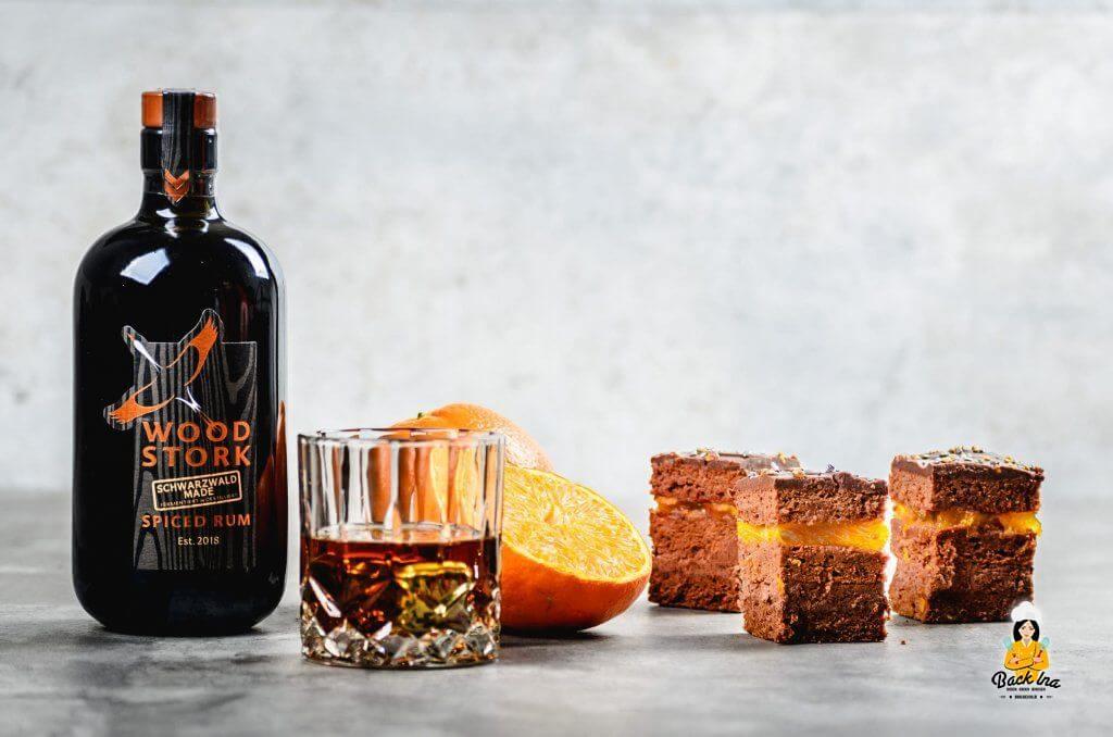 Herrenschnitten - eine Variante der Herrentorte mit Schokolade, Rum und Orange