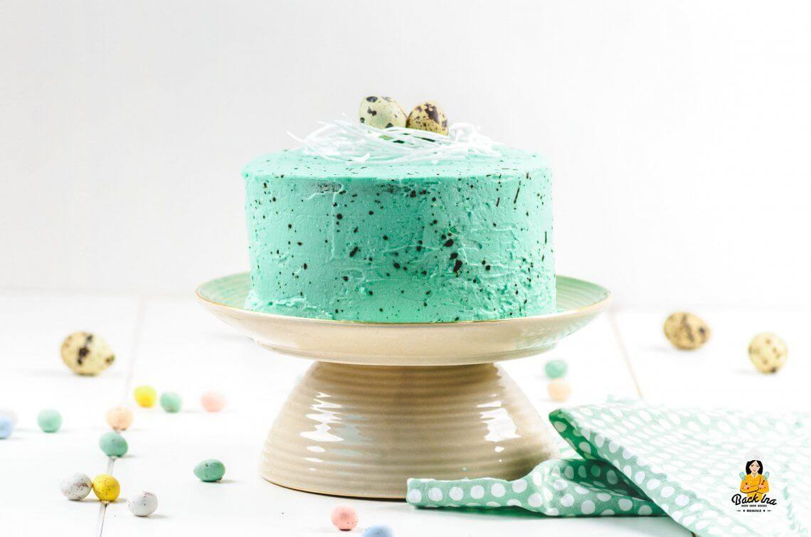 Zitronentorte a la Osterei (Speckled Egg Cake)