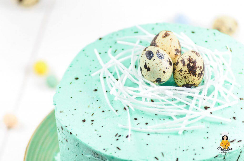 Osternest Torte - Tolle Torte zu Ostern, die einfach zu verzieren ist